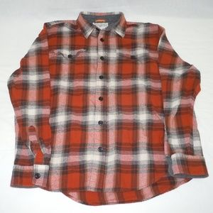 Field & Stream Flannel Button Up Shirt Large Light